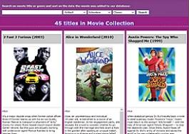 Stoffel's movie database